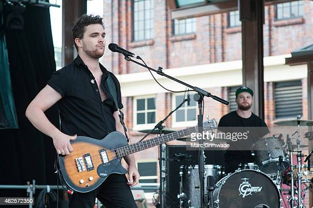 Royal Blood performs live on stage during the Laneway Festival at Brisbane Showgrounds on January 31 2015 in Brisbane Australia