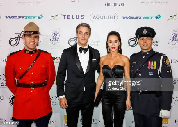 Royal Canadian Mounted Police Ben Mulroney Jessica Mulroney and Royal Canadian Mounted Police arrive for the David Foster Foundation Gala at Rogers...