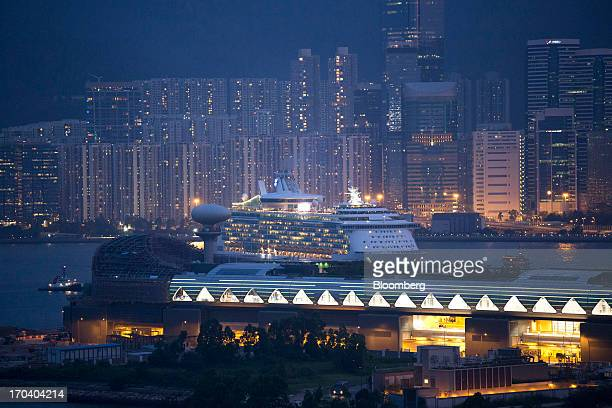 Royal Caribbean Cruises Ltd's Mariner of the Seas ocean liner arrives at the Kai Tak Cruise Terminal built on the site of the former Kai Tak Airport...