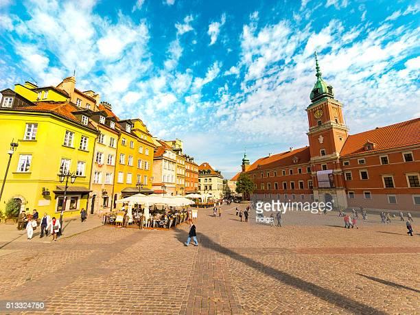 Royal Castle Square in Warsaw, Poland