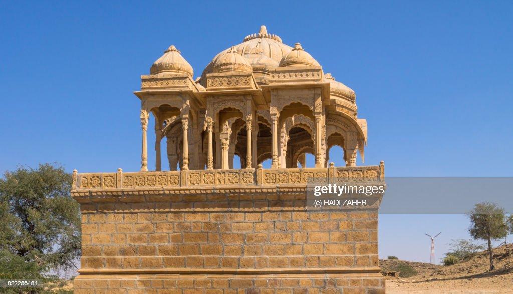 Royal Cenotaphs at Bada Bagh | Jaisalmer | Rajasthan | India : Stock Photo