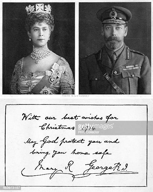 Royal christmas greeting card to the British troops 1914 Front and back of postcard