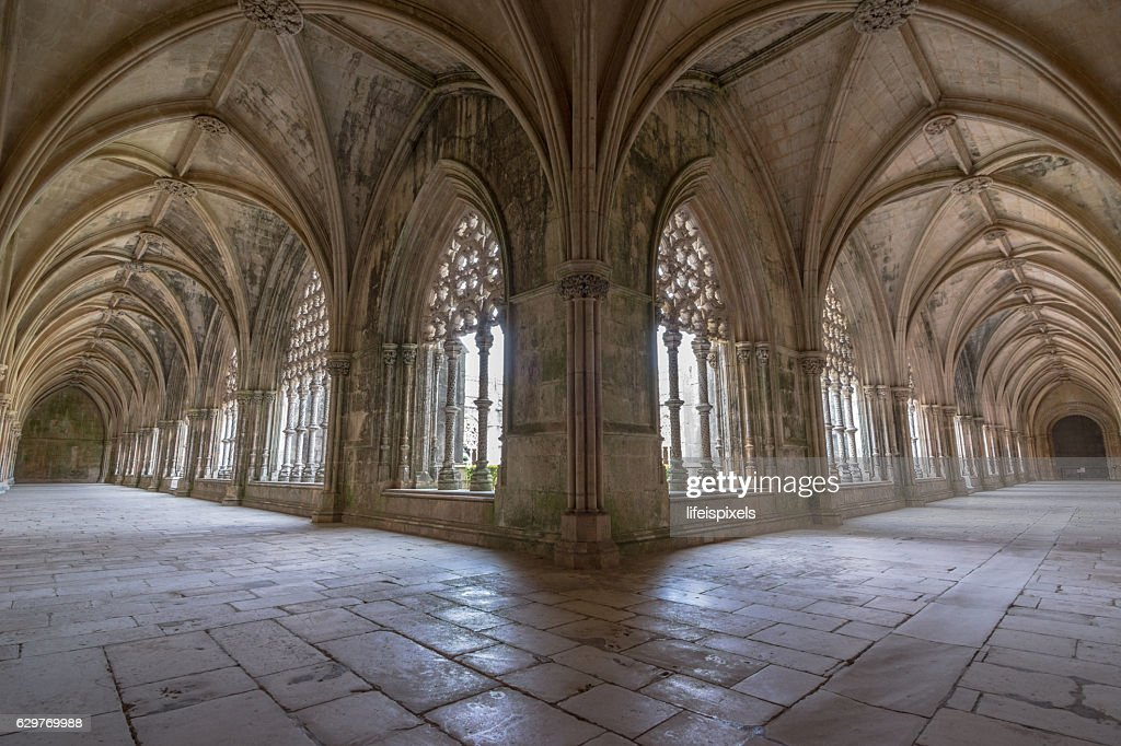 Royal Cloister Of Batalha Monastery, Portugal : Stock Photo