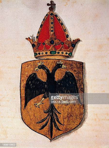 Royal Coat of Arms of the House of Swabia Heraldry Italy 15th century