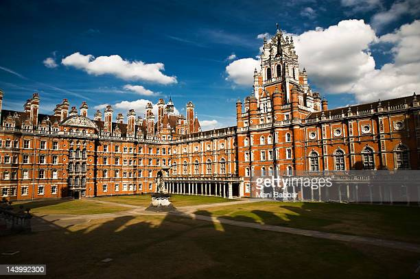 royal college of holloway - berkshire england stock pictures, royalty-free photos & images