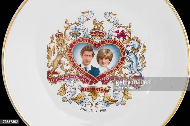 Royal commemorative plate to mark wedding of Prince Charles to Lady Diana Spencer United Kingdom