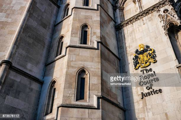 royal courts of justice in london - royal courts of justice stock pictures, royalty-free photos & images