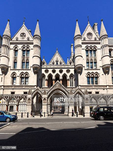 royal courts of justice, london, england, united kingdom. - royal courts of justice stock pictures, royalty-free photos & images