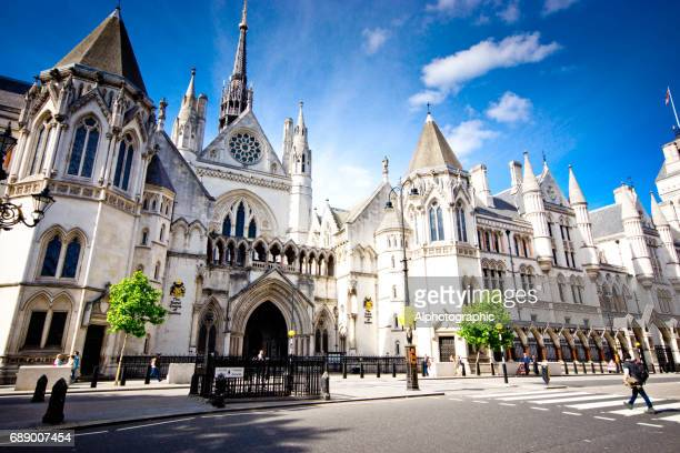 royal courts of justice - tall high stock photos and pictures