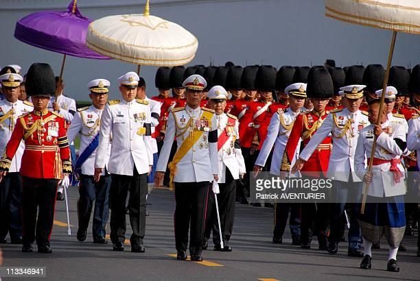 Royal Cremation Of The Princess Galyani Vadhana In Bangkok Thailand On November 15 2008 Thailand's Crown Prince Maha Vajiralongkorn center walks in...