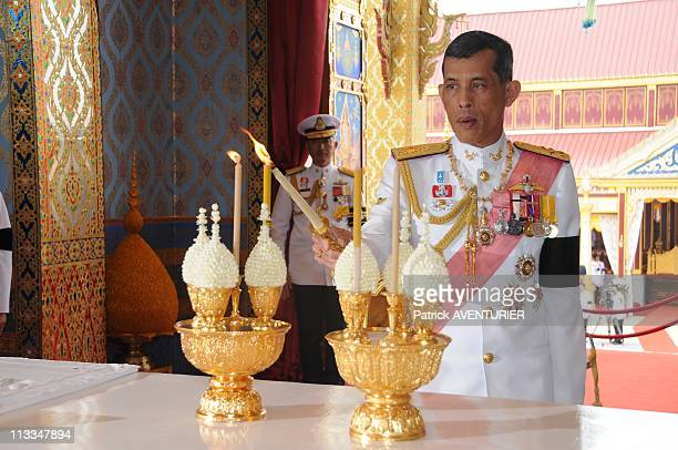 Royal Cremation Of The Princess Galyani Vadhana In Bangkok Thailand On November 15 2008 Thai Crown Prince Maha Vajiralongkorn takes part in...