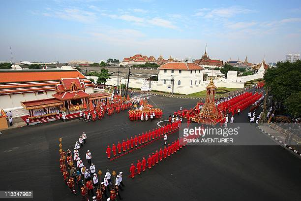 Royal Cremation Of The Princess Galyani Vadhana In Bangkok Thailand On November 15 2008 Officials take part in a procession with the royal urn...