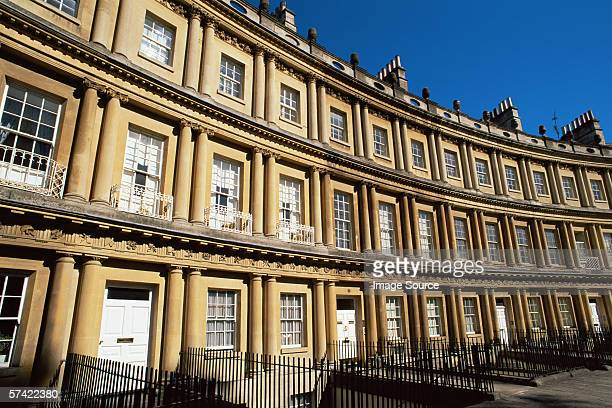 royal crescent bath - bath england stock pictures, royalty-free photos & images