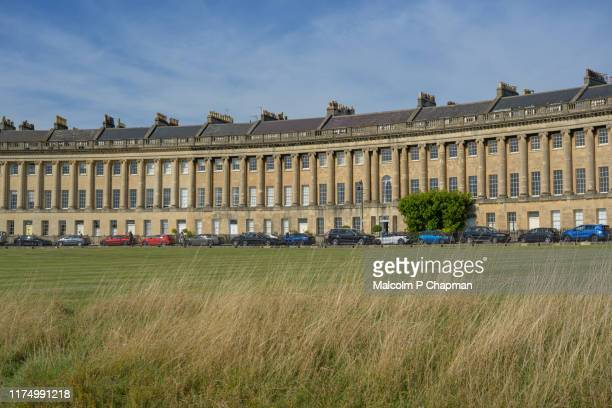 royal crescent, bath spa, somerset - bath england stock pictures, royalty-free photos & images