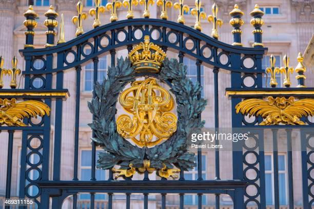 Royal Crest on the Gates at Buckingham Palace