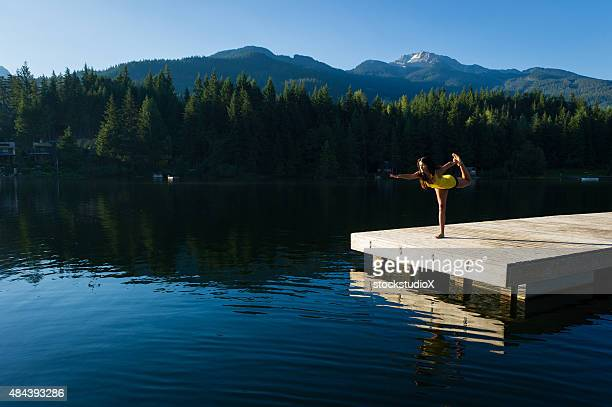 Royal Dancer Tranquil Lakeside meditation at sunrise