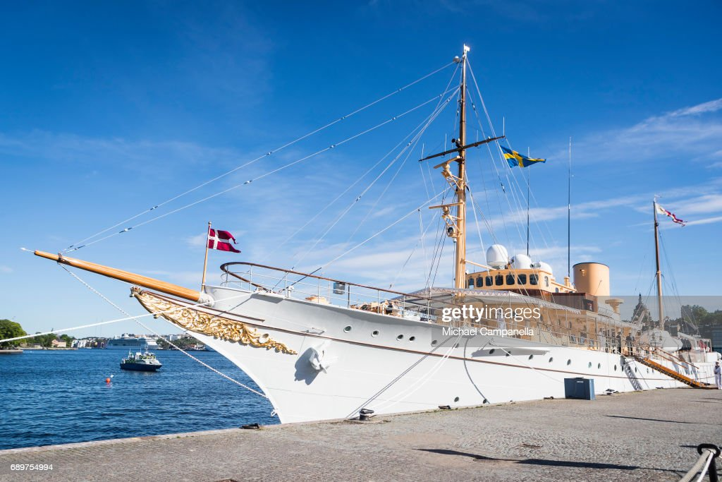 Royal Danish Yatch is seen on May 29, 2017 in Stockholm, Sweden.