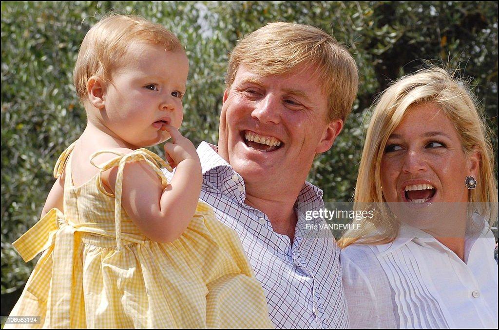 Royal dutch family on holidays in Tuscany, Italy on July 06, 2006.  : News Photo