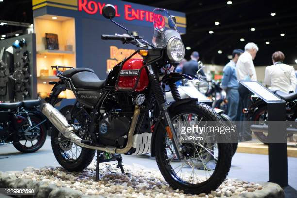 Royal Enfield is an Indian multinational motorcycle on display during the Thailand International Motor Expo 2020 at Impact Challenger Muang Thong...