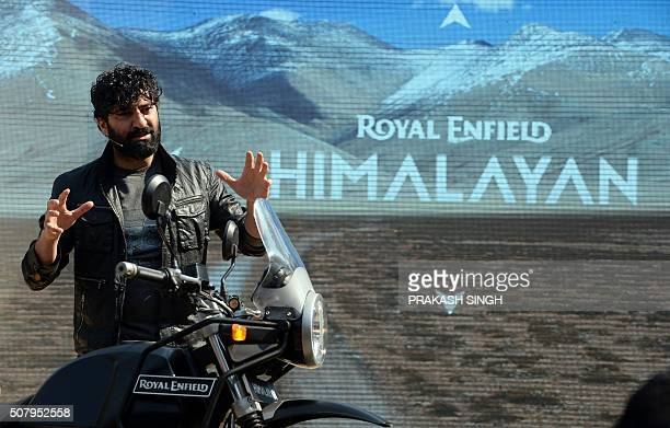 Royal Enfield MD CEO Siddhartha Lal interacts with media while introducing new motorcycle 'Himalayan' in New Delhi on February 2 2016 Royal Enfield...