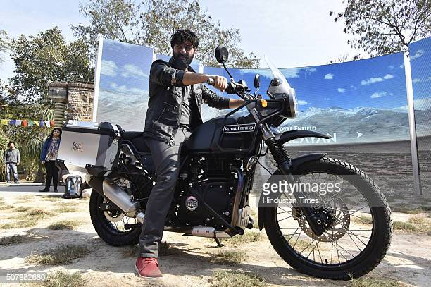 Royal Enfield MD CEO Siddhartha Lal interacts with media while introducing new motorcycle Himalayan on February 2 2016 in New Delhi India The 410 cc...