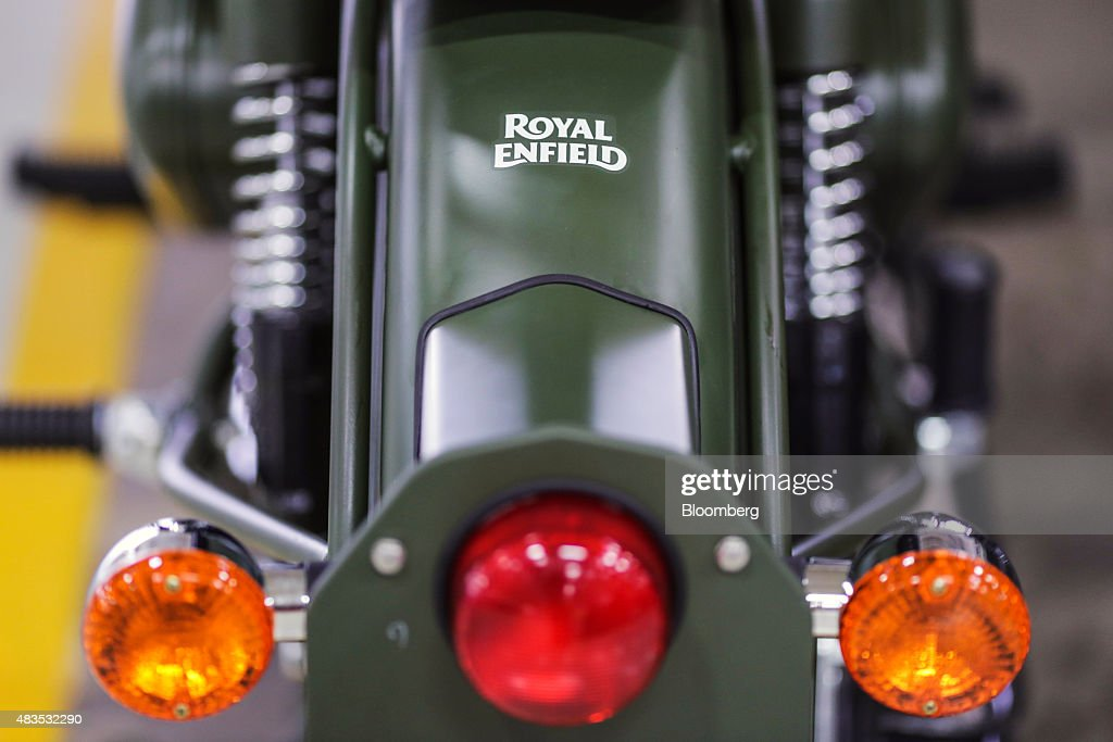 A Royal Enfield Motors Ltd Classic 350 motorcycle stands on the production line at the company`s manufacturing facility in Chennai India on Tuesday...