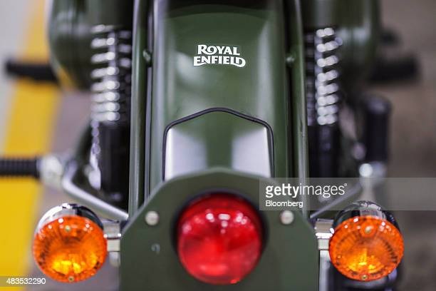 Royal Enfield Motors Ltd. Classic 350 motorcycle stands on the production line at the company's manufacturing facility in Chennai, India, on Tuesday,...