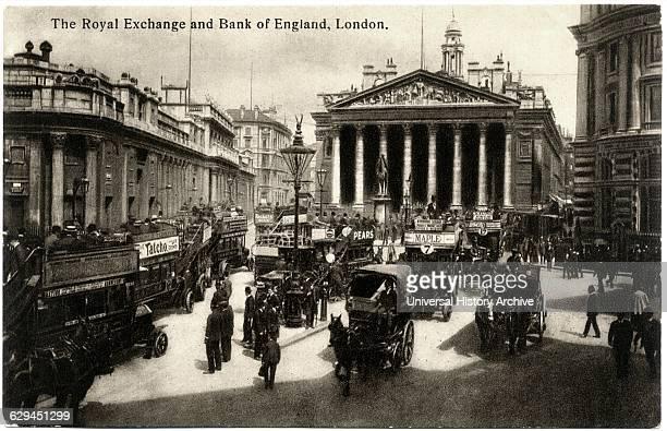 Royal Exchange London England United Kingdom Postcard circa early 1900's