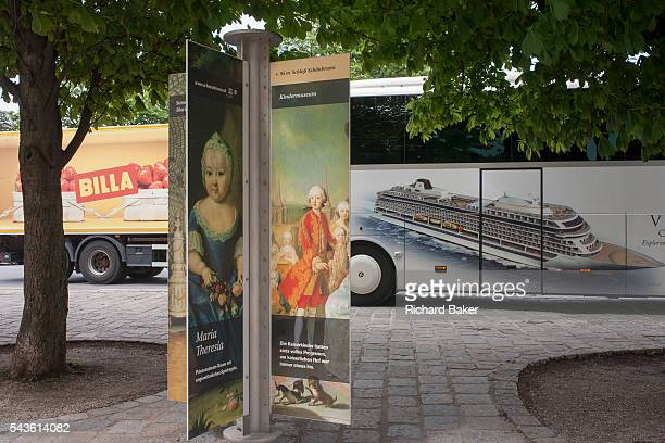Royal faces from an old empire with a three yearold Maria Theresia and a portrait of some of her 16 children with a modern day Austria outside...