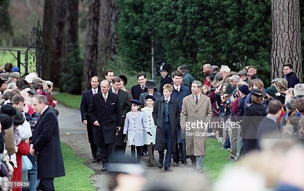 Royal Family Attending Christmas Day Service At Sandringham Church