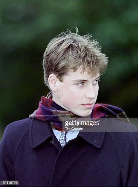 Royal Family Attending Christmas Day Service At Sandringham Church Prince William
