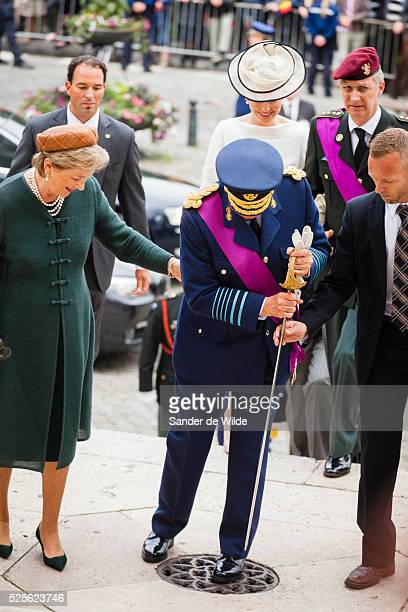Royal family attends the Te Deum royal mass in THE SAINT MICHAEL and SAINT GUDULA CATHEDRAL Belgiums National Day in Brussels July 21 2012 Belgium...