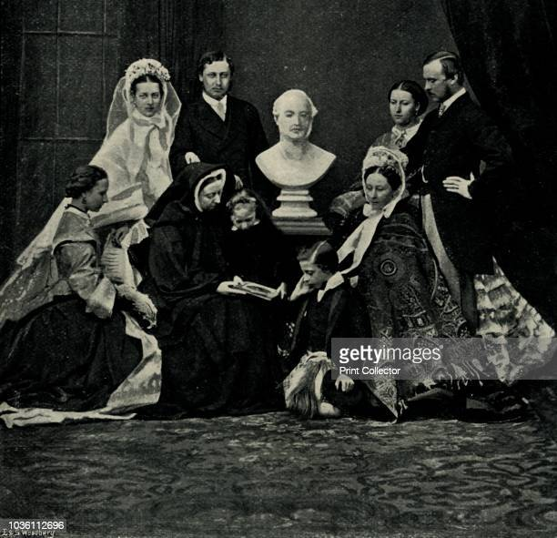 A Royal Family Group' 10 March 1863 'Prince and Princess of Wales Princess Alice and Prince Louis of Hesse Princess Helena The Queen Princess...