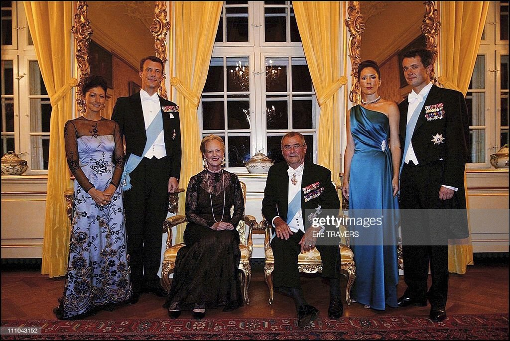 Family portrait the salon jaune of the fredensborg castle royal family of denmark from left to right princess alexandra with her husband prince joachim sciox Image collections