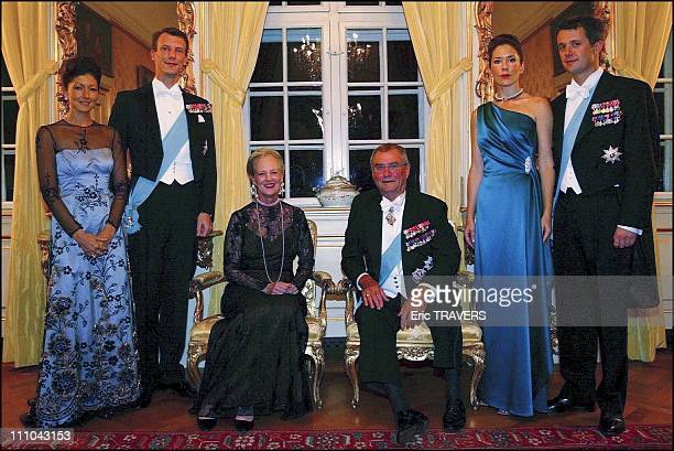 Royal Family Of Denmark From Left To Right Princess Alexandra With Her Husband Prince Joachim Queen Margrethe Consort Prince Henrik Mary Elizabeth...