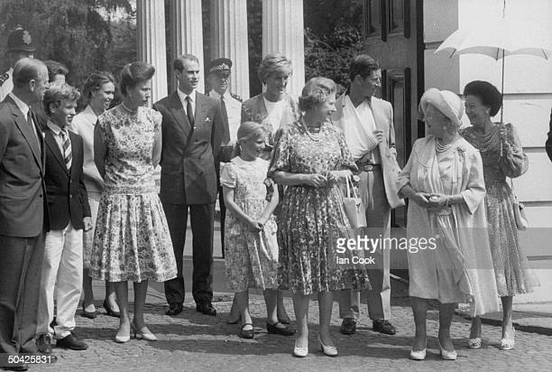 Royal family Prince Philip Viscount Linley Peter Phillips Princess Anne Prince Edward Zara Phillips Queen Elizabeth Princess Diana Prince Charles...