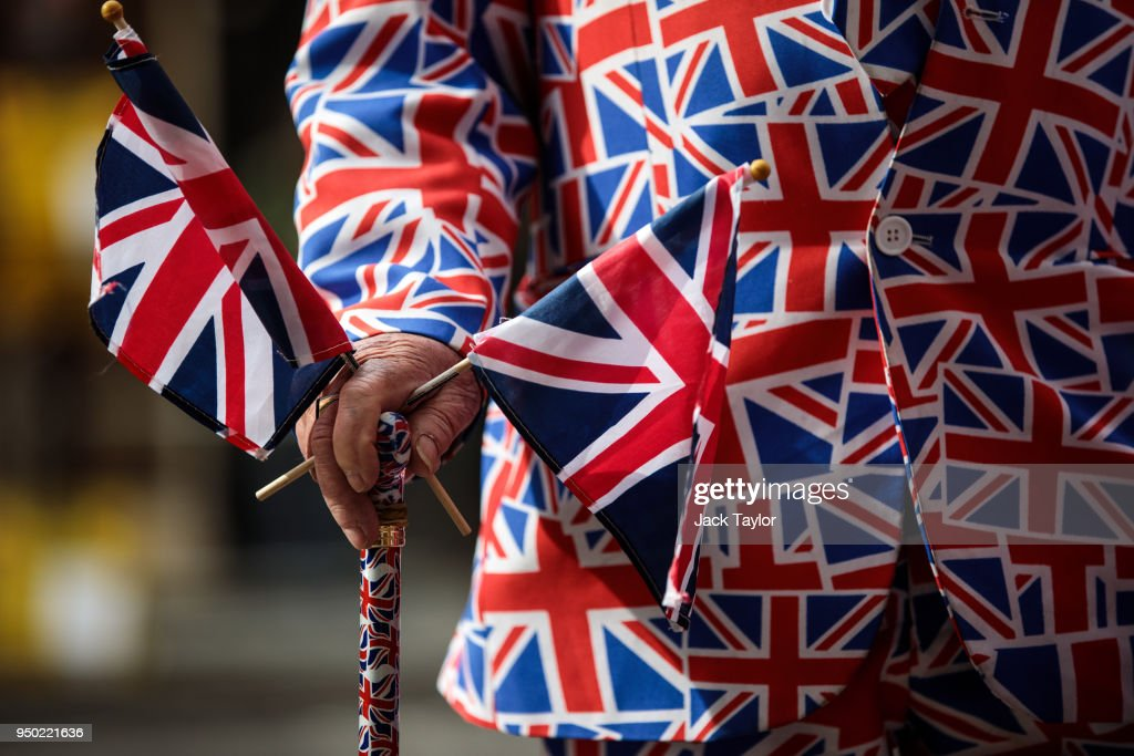 Royal fan Terry Hutt waits outside the Lindo Wing of St Mary's Hospital wearing a Union Jack suit ahead of the birth of the Duke & Duchess of Cambridge's third child on April 23, 2018 in London, England. Catherine, Duchess of Cambridge has this morning been admitted to hospital in the early stages of labour.
