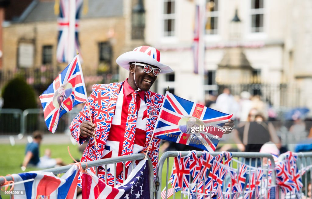 A Royal fan waits on the Long Walk on May 18, 2018 in Windsor, England. Preparations continue in the town for the wedding between Prince Harry and Ms. Meghan Markle on May 19, 2018 when tens of thousands of well wishers will descend on the town just west of London to celebrate the couple's big day.