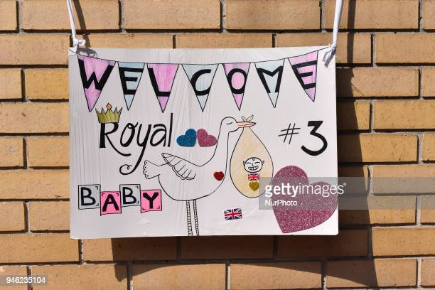 Royal fans are pictured outside St Mary Hospital's Lindo Wing as they gather and wait for the birth of the third child of the Duke and Duchess of...