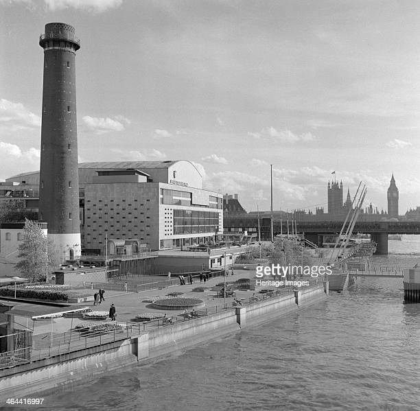 Royal Festival Hall Belvedere Road South Bank Lambeth London c19511962 The Royal Festival Hall seen here looking south from Waterloo Bridge was...