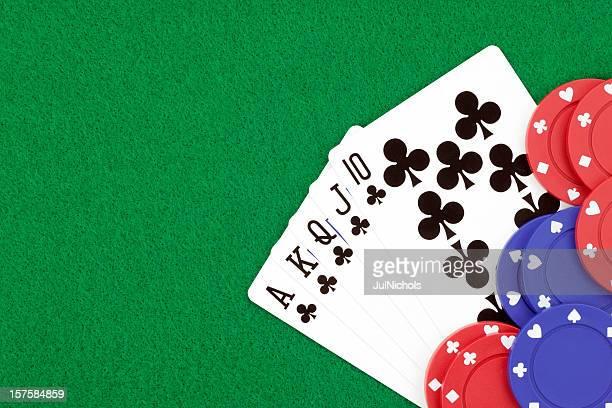 Royal Flush and Gambling Chips