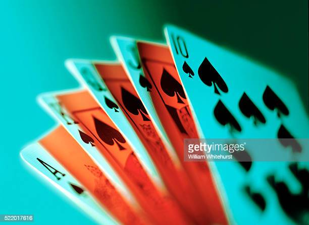 royal flush - poker - fotografias e filmes do acervo