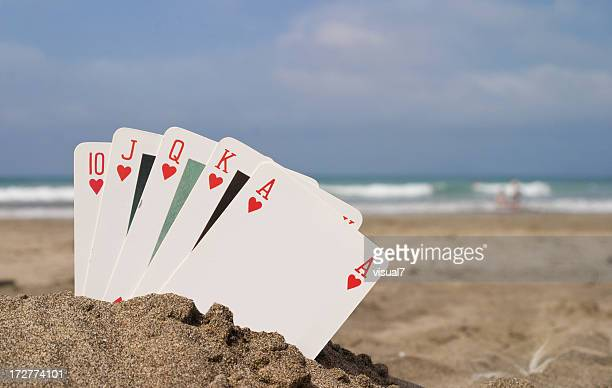 royal flush poker concept - royal flush stock photos and pictures