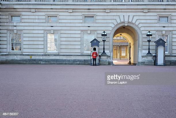 Royal Foot Guard on duty at Buckingham Palace