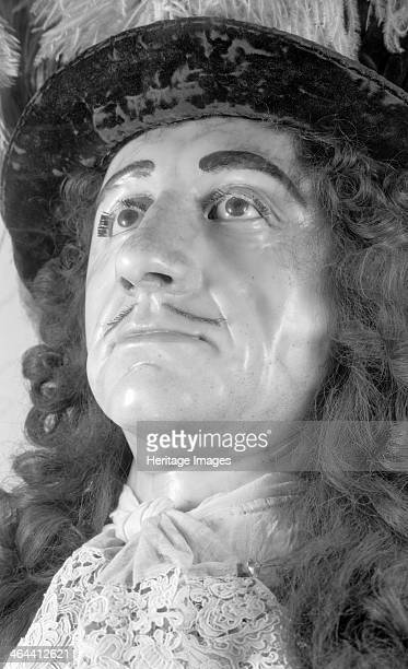 Royal funeral effigy of King Charles II Westminster Abbey London 19451980 Photograph taken 19451980 of a detail of a wax funerary effigy of King...