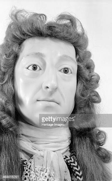 Royal funeral effigy of William III Westminster Abbey London 19451980 Photograph taken 19451980 of a detail of the wax funerary effigy of William III...