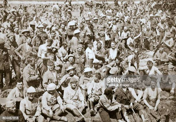 Royal Fusiliers resting after the storming of La Boiselle France World War I 1916 La Boiselle was the scene of fierce fighting during the Battle of...