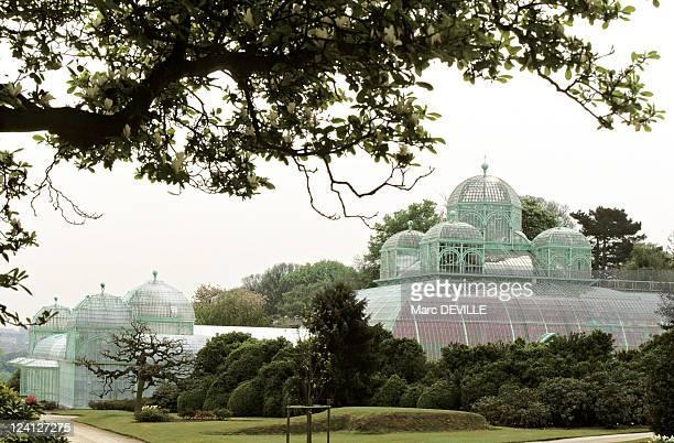 Royal greenhouses at Laeken Palace In Brussels, Belgium In April, 1997.