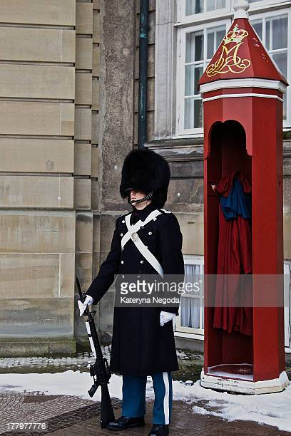 CONTENT] Royal guard on duty near the Royal palace Copenhagen Denmark
