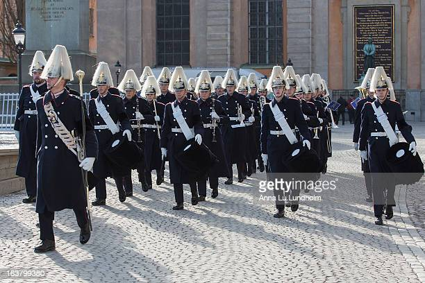Royal Guards at the funeral of Princess Lilian Of Sweden on March 16, 2013 in Stockholm, Sweden.